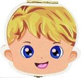 Tandendoosje van Hout - Melktanden - Tandenfee - Opbergdoosje - Jongen - Blond Haar