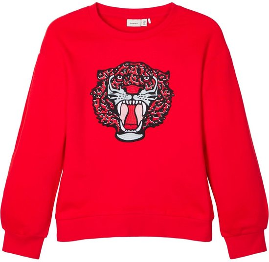 Name it Meisjes Sweatshirt High Risk Red Maat 146 152