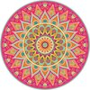 Vloerkleed vinyl rond | Mandala koraal