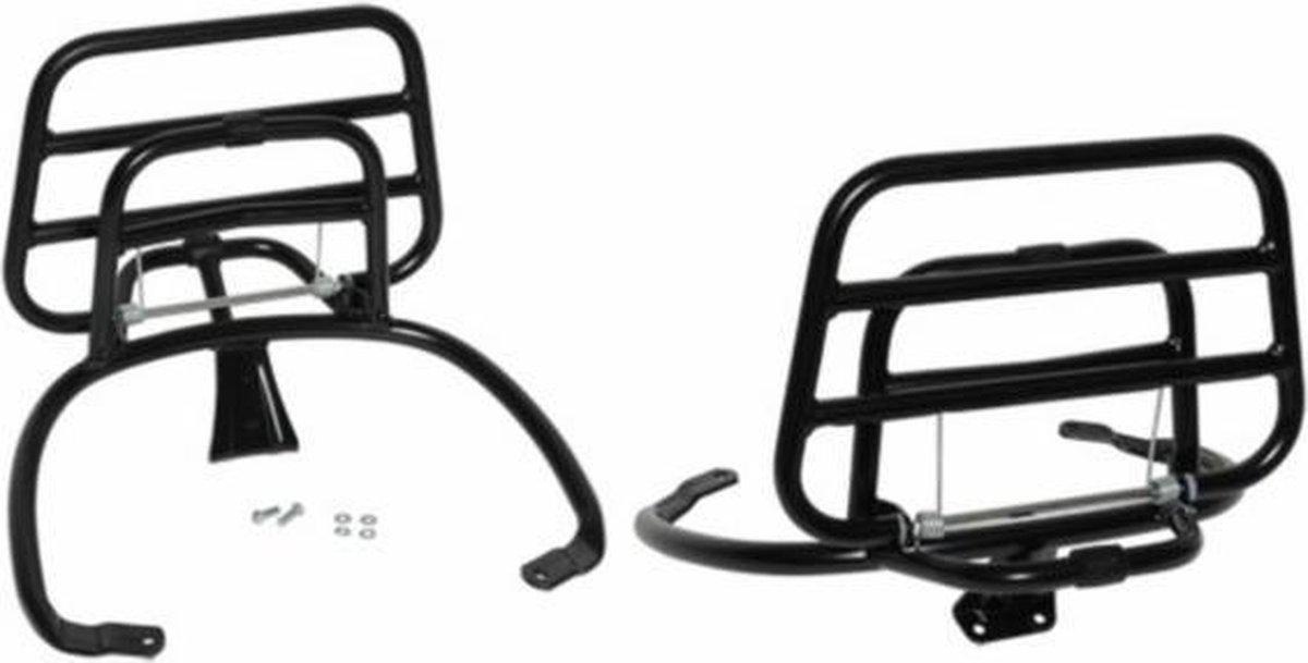 Achterdrager opklapbaar model origineel Vespa Primavera Sprint zwart mat