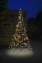Fairybell LED Kerstboom voor buiten inclusief mast - 200 cm hoog - 300 LEDs - Warm wit