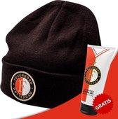 Feyenoord Beanie Muts + Douchegel - 200ml Voordeelverpakking