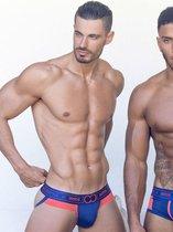 2EROS Kratos Jockstrap Underwear Fiery Seas Blauw maat L (32 inch t/m 33 inch)   Mannen Jockstrap   Herenondergoed