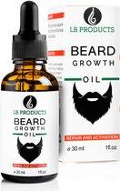 LB Products Baardgroei Olie™ 2.0 - Baardolie - Baard groei middel - Baardhaar - Baardgroei stimuleren - Versnellen 30 ml
