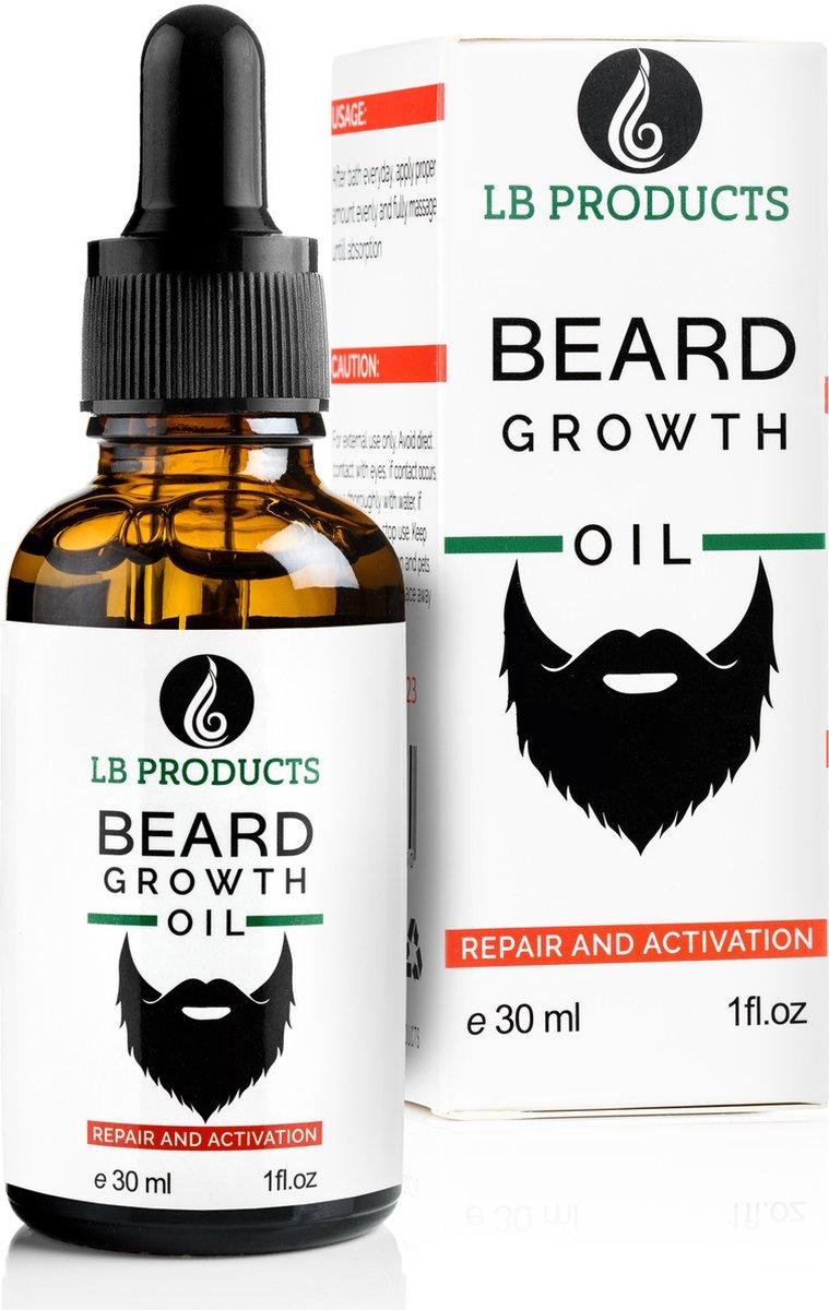 LB Products Baardgroei Olie  - Baardolie - Baard groei - Baardgroei stimuleren - Versnellen - Vanill