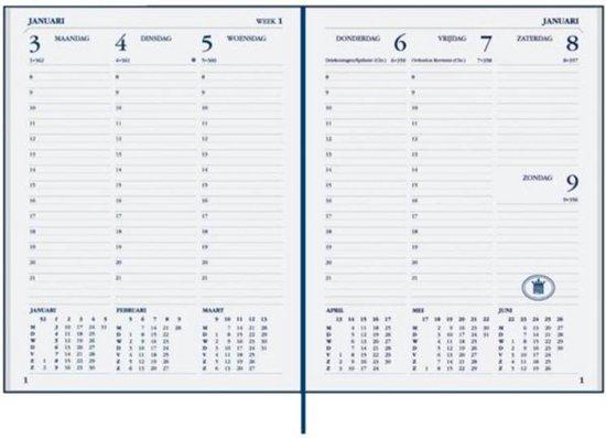 Afbeelding van Ryam Bureau Agenda 2020 - 17 x 22cm - Zwart - Wekelijks