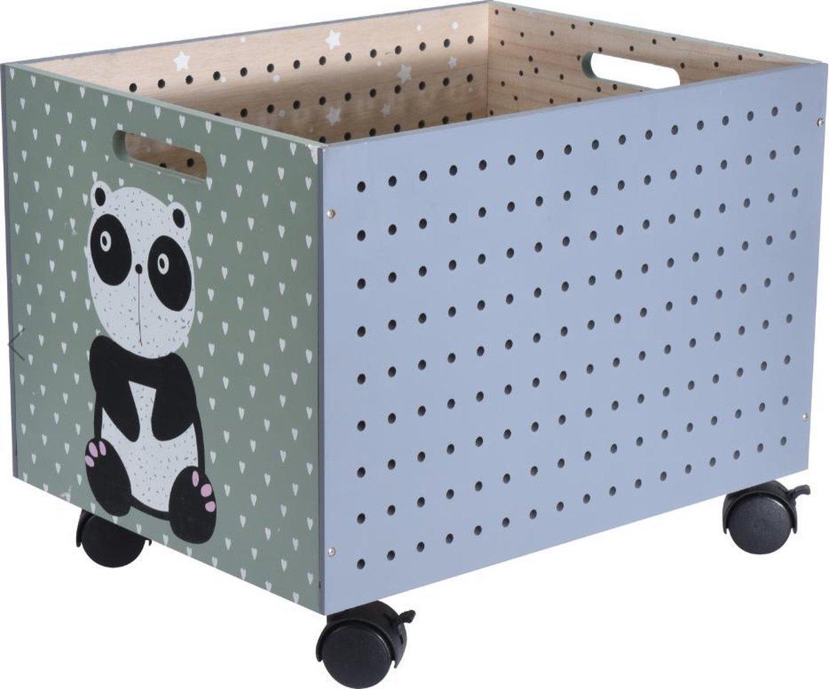 Wonderlijk bol.com | Kist op wieltjes voor kinderen - houten kist UD-33