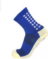 Gripsokken Voetbal Anti Blaren Unisex Blauw One Size