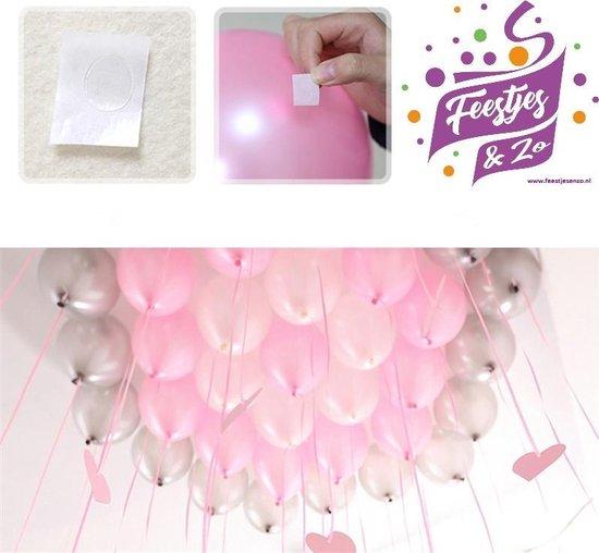 200 stuks ballon stickers/plakkers per rol, geen dure Helium meer kopen