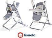 Lionelo Niles - Eet en schommelstoel met muziek app - Geschikt voor 0-36 maanden - Grijs