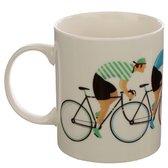Mok beker wielrennen fietsen tour de france gele bolletjes groene trui