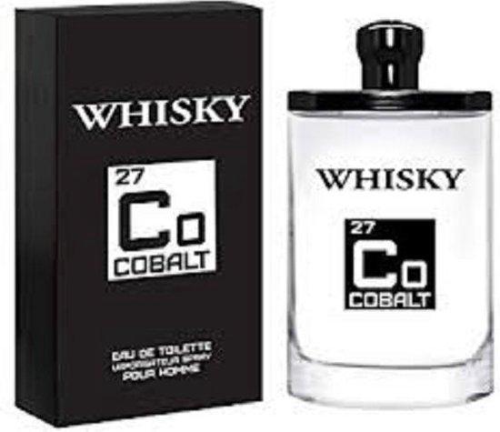 Whisky - COBALT 27 - Heren Parfum - Limited Edition - heerlijk frisse geur met Lemon - Ginger - Musk - 100 ml