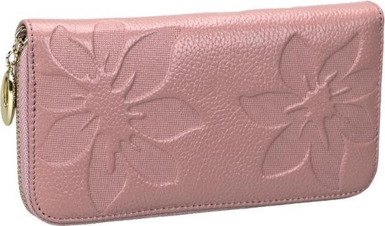 91 Litchi Texture Women Large Capacity RFID Hand Wallet Purse Phone Bag with Card Slots(Light Pink)