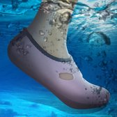 Comfortable and anti-slip 3MM swimming diving socks breathable water to swim the beach socks Size:XL (40-43)(Pink)