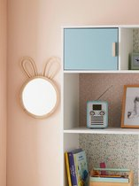 Spiegel konijn - Spiegel konijn kinderkamer / babykamer wand decoratie 24 x 2,2 x  38 cm