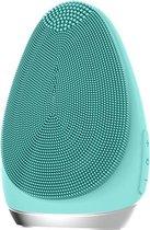 FettleLife™ Glow Super Soft - Gezichtsborstel met Gezichtsmassage - Gezichtsreinigingsborstel Facial Cleanser en Mee-eter verwijderaar (Turquoise)