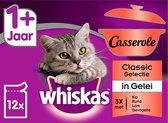Whiskas 1+ Adult Casserole Multipack Maaltijdzakjes - Classic in Gelei - Kattenvoer - 48 x 85 g