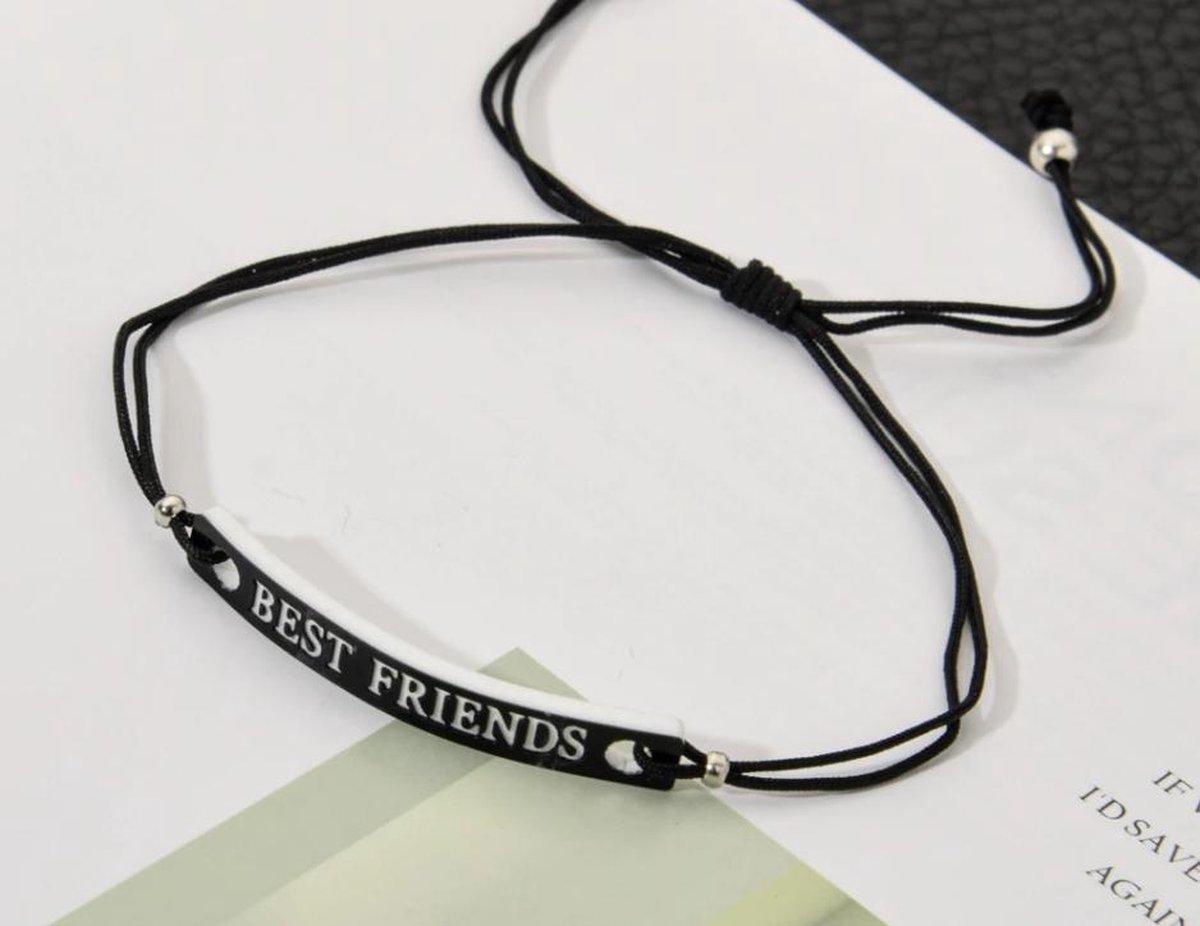 Vrienden armband - BFF - vriendschap - unisex - zwart 2 stuks