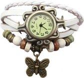 Dames horloge-armband 18 mm wit I-deLuxe verpakking