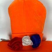 Oranje Hoed met 3 rozen | Feestartikelen voor EK Voetbal 2021