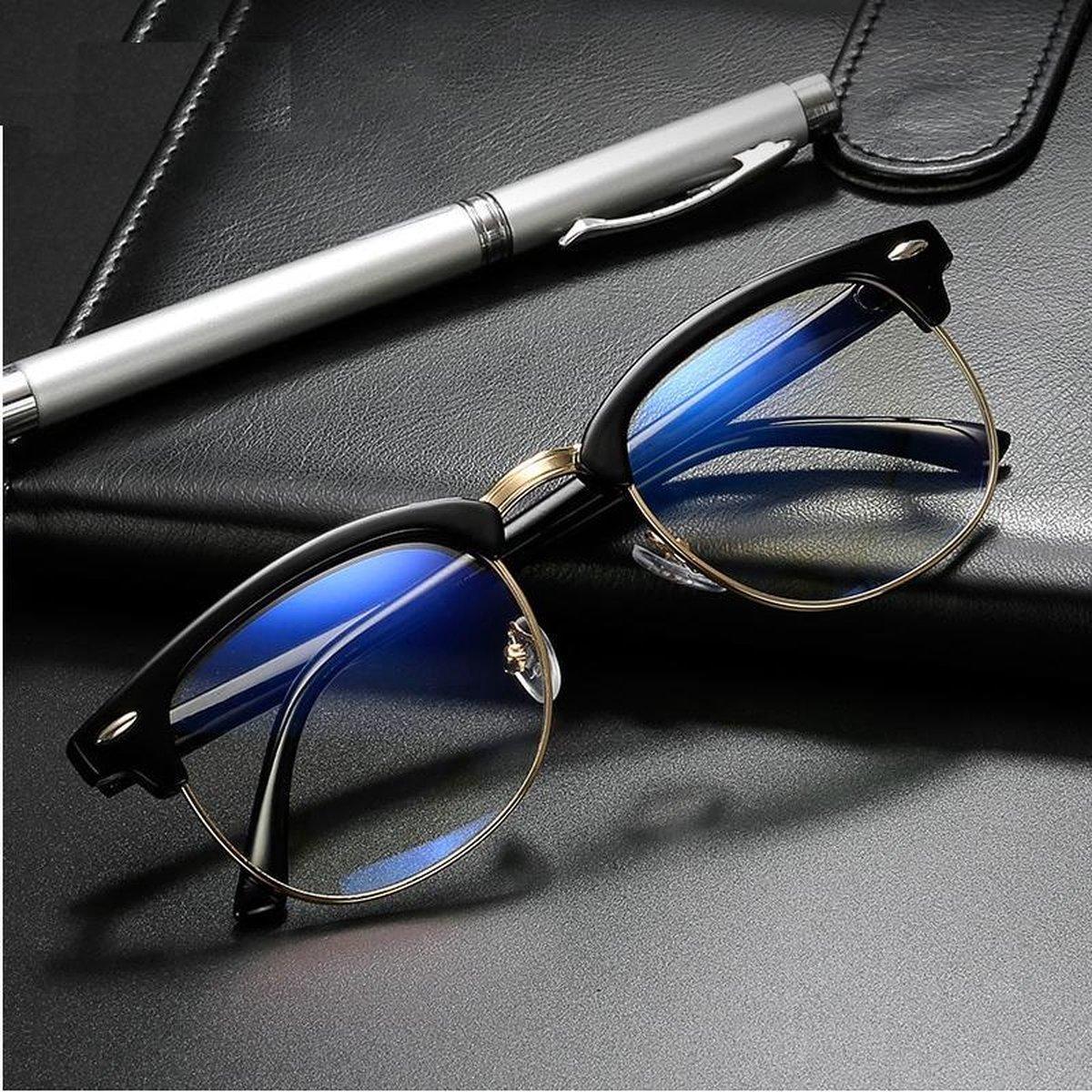 Luxe Computer Bril - Anti Blauwlicht Beeldscherm Filter Bril - Bluelight Bril - Unisex - Zonder Ster