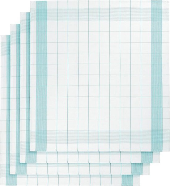 Keukenhanddoek De Witte Lietaer - Theedoek - 68x68 cm - Set van 2 Aqua