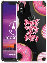 Motorola One Hoesje Donut Worry