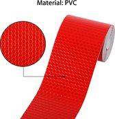 Reflecterende tape rood 3 meter x 5 cm breed