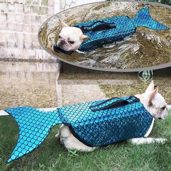 DOEGLY - Zwemvest voor honden - zwem jas - zwemondersteuning voor honden - BLAUW - LARGE (L)