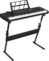 Áengus keyboard 61 toetsen, Piano met Standaard en Microfoon - A-661