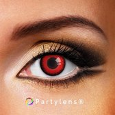 Partylenzen - Magic Red - jaarlenzen met lenshouder - kleurlenzen Partylens®