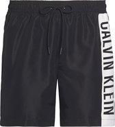 Calvin Klein Medium Drawstring  Sportzwembroek - Maat S  - Mannen - zwart/wit