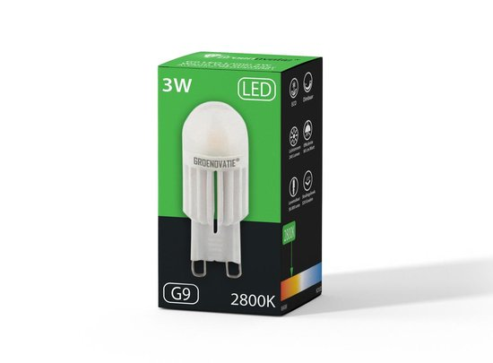 Groenovatie LED Lamp - 3W - G9 Fitting - Warm Wit - Dimbaar