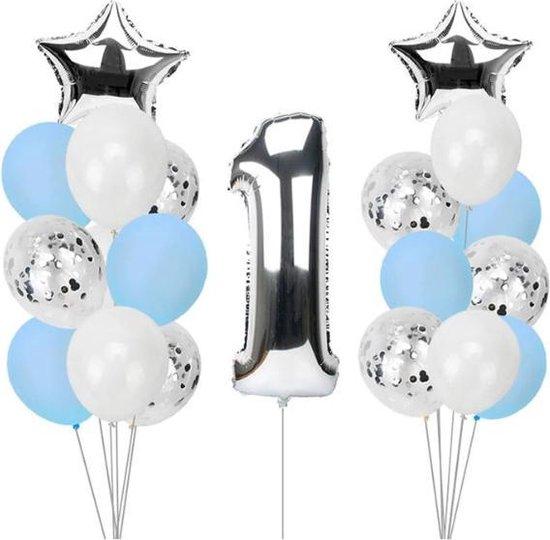 Verjaardag Ballonnen Set 1 Jaar Jongen | 21 stuks