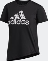 adidas Ikat Bos Tee Sportshirt Dames - Black - Maat XS