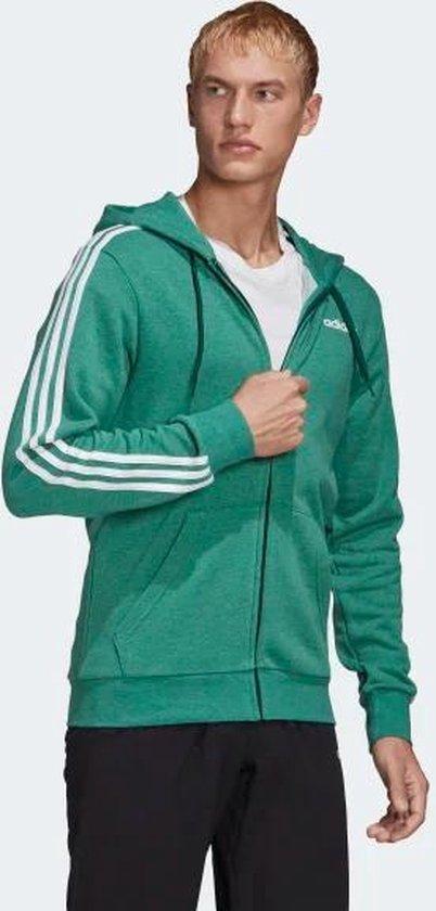 adidas Essentials 3-Stripes vest heren groen/wit