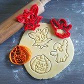 Koekjesvorm | 3-delige set | Halloween | Pompoen - Spookje - Vleermuis | Cookie cutter | Uitsteekvorm | Bakvorm | 8cm