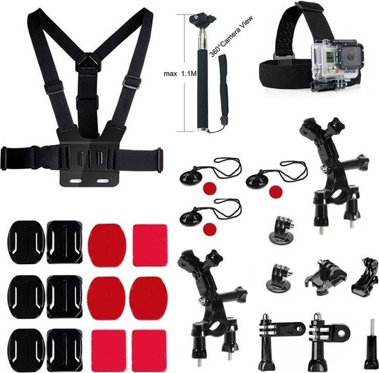 27 in 1 Outdoor GoPro Accessories Kit voor GoPro Hero 4/3+/3/2/1 en Actioncam