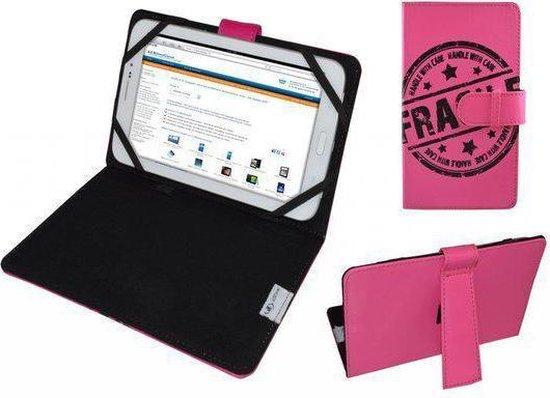 Hoes voor It Works Tm904, Cover met Fragile Print, hot pink , merk i12Cover