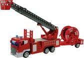 Happy People Brandweerwagen Met Slangentrailer 20 Cm Rood