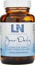 Living Nutrition / Your Daily Gefermenteerde Chaga Capsules – Bio 60 stuks