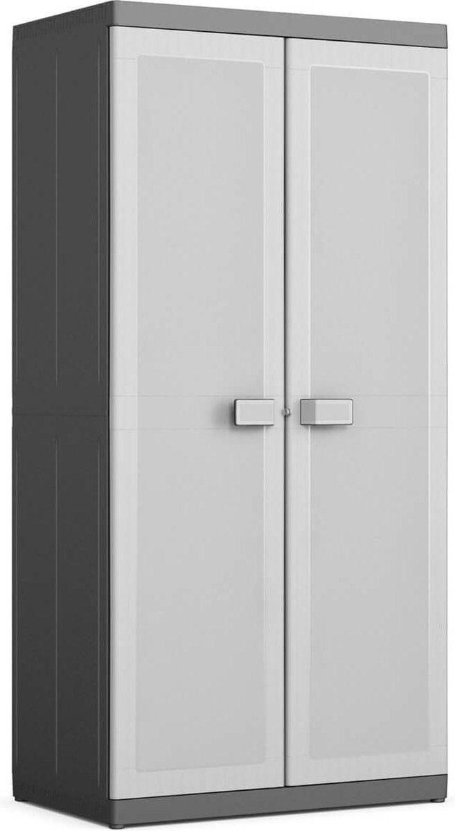 Kis Logico Utility XL Cabinet Opbergkast - 89x182x54 cm - Grijs/Zwart