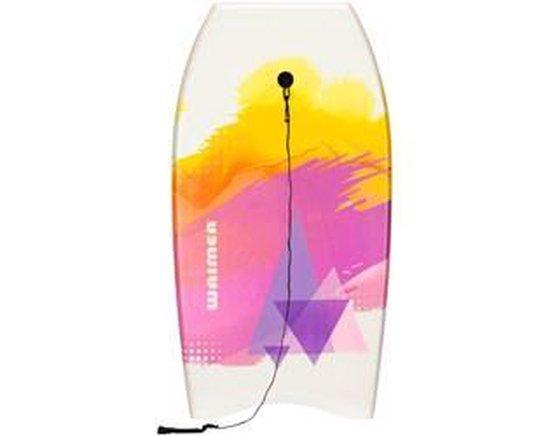 Bodyboard - Surfplank - Drijfplank - Body board - Surfer - Zwemplank - Wit/Paars