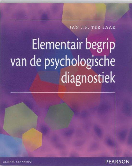 Elementair begrip van de psychologische diagnostiek - Jan Ter Laak pdf epub