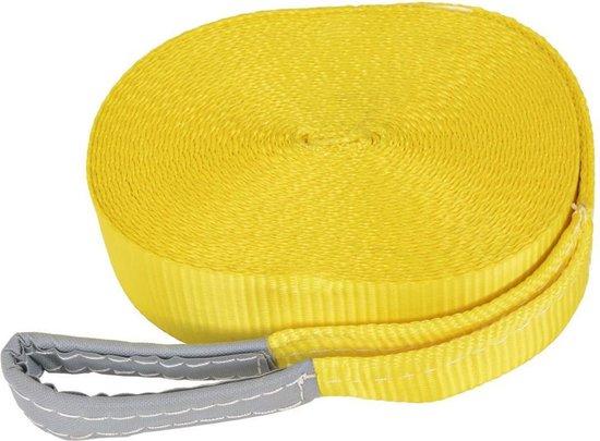 Slackline geel 15 MTR 50 mm - Balanceertouw - Balanstouw