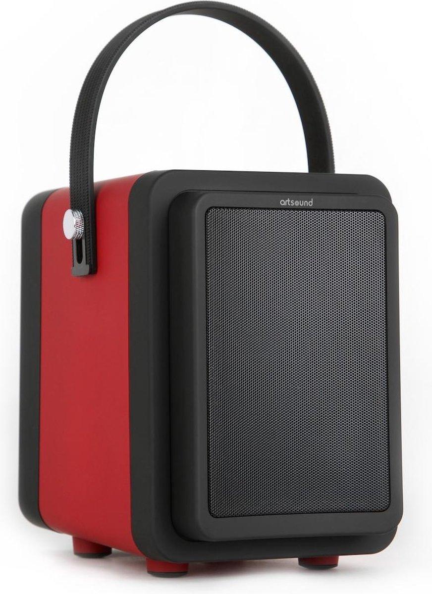 ArtSound 4TUNES3 R/B - Luidspreker - Draagbare Speaker - Bluetooth - Met Accu - Rood/Zwart