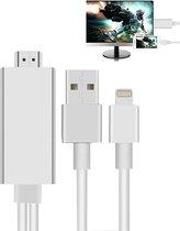 HDMI HDTV kabel voor Apple iPhone X / iPhone 7 /  7 Plus / iPhone 6 / iPhone SE / 5S / 5 / iPad Pro / Air 2017 100% Werking Met Nieuwste Besturingsysteem