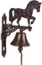 Gietijzeren - deurbel - ornament - paard - gietijzer - bel - bruin