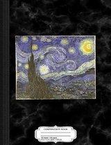 Van Gogh Starry Night Composition Notebook