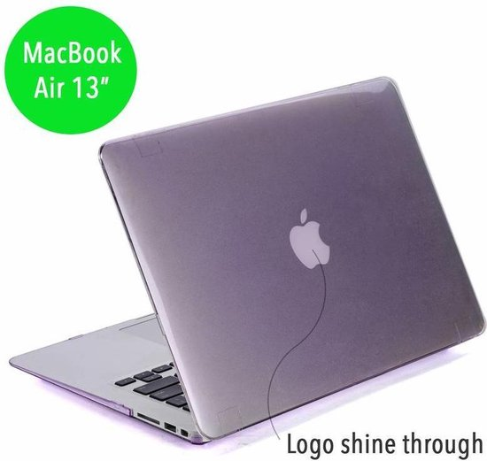 Lunso - hardcase hoes - MacBook Air 13 inch 2012-2017- glanzend paars